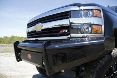 Fab Fours - Fab Fours CH14-S3061-1 Black Steel Front Ranch Bumper