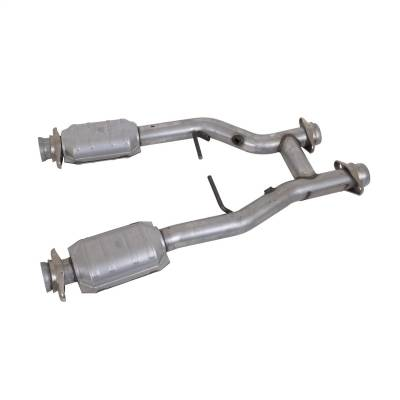 BBK Performance - BBK Performance 1538 High-Flow Short Mid H-Pipe Assembly Fits 96-04 Mustang