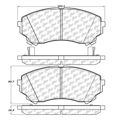 StopTech - StopTech 104.13310 Disc Brake Pad Fits 08-11 CTS