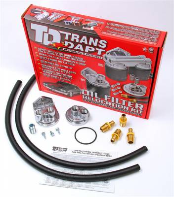 Trans-Dapt Performance Products - Trans-Dapt Performance Products 1150 Single Oil Filter Relocation Kit