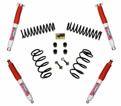 Skyjacker - Skyjacker TJ25BPH Suspension Lift Kit w/Shock Fits 97-06 TJ Wrangler
