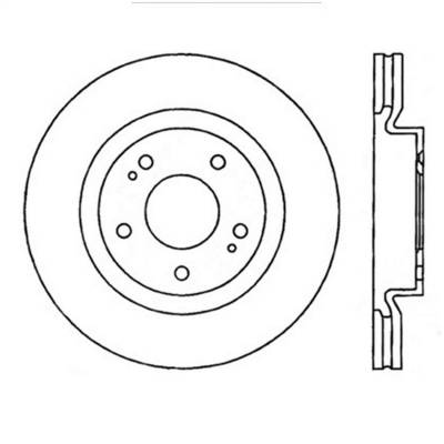 StopTech - StopTech 126.46076SL StopTech Sport Rotor Fits 08-15 Lancer