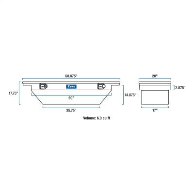 UWS - UWS TBSD-60A-LP-BLK Low Profile Series Single Lid Crossover Tool Box - Image 9
