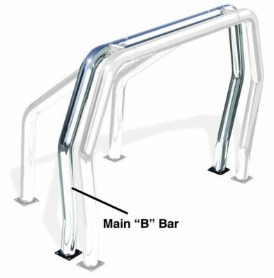 Go Rhino - Go Rhino 92002C Rhino Bed Bars Rear Main B Bar - Image 1