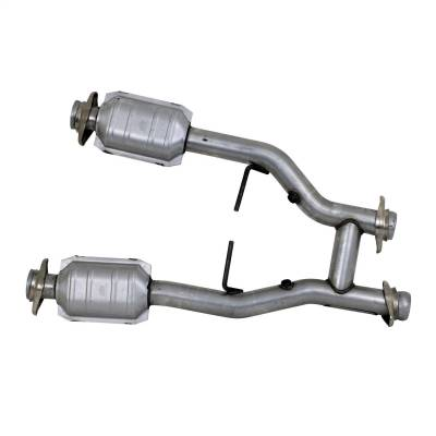 BBK Performance - BBK Performance 1538 High-Flow Short Mid H-Pipe Assembly Fits 96-04 Mustang - Image 2