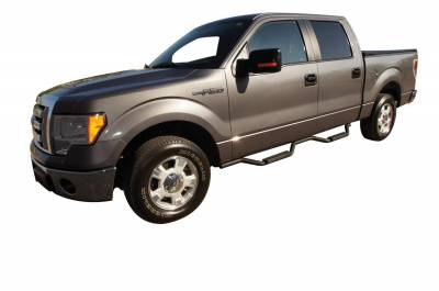 Rampage - Rampage 26227 Slimline 2 in. Round Side Bar Cab Length Fits 09-14 F-150 - Image 2