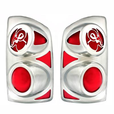 All Sales - All Sales V27834C Big Horns Tail Light Cover Fits Ram 1500 Ram 2500 Ram 3500 - Image 1