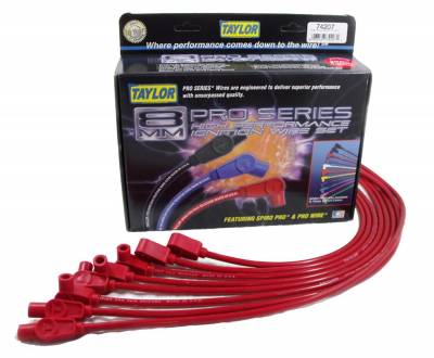 Taylor Cable - Taylor Cable 74207 8mm Spiro-Pro Ignition Wire Set - Image 1