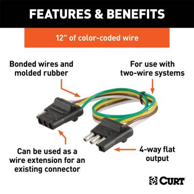 CURT - CURT 58380 4-Way Bonded Wiring Connector - Image 2
