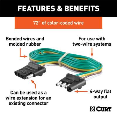 CURT - CURT 58050 4-Way Bonded Wiring Connector - Image 2