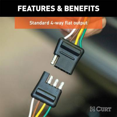 CURT - CURT 58050 4-Way Bonded Wiring Connector - Image 3