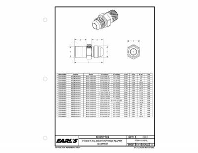 Earls Plumbing - Earls Plumbing AT981608ERL Straight Aluminum AN to NPT Adapter - Image 2