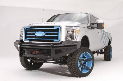 Fab Fours - Fab Fours FS99-S1661-1 Black Steel Front Ranch Bumper - Image 1