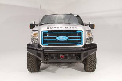 Fab Fours - Fab Fours FS99-S1661-1 Black Steel Front Ranch Bumper - Image 3