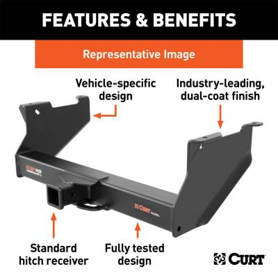 CURT - CURT 15845 Class V 2.5 in. Commercial Duty Hitch - Image 4