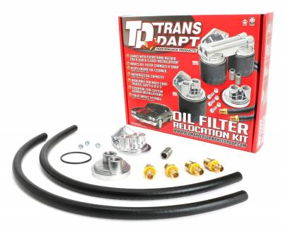 Trans-Dapt Performance Products - Trans-Dapt Performance Products 1120 Single Oil Filter Relocation Kit - Image 1