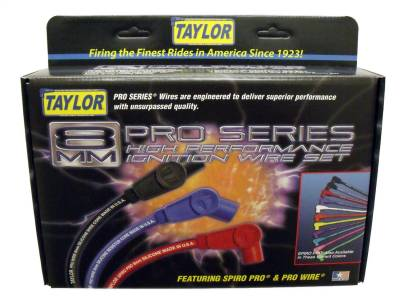 Taylor Cable - Taylor Cable 74003 8mm Spiro-Pro Ignition Wire Set - Image 4