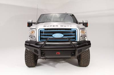 Fab Fours - Fab Fours FS99-S1662-1 Black Steel Front Ranch Bumper - Image 1