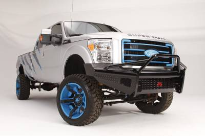 Fab Fours - Fab Fours FS99-S1662-1 Black Steel Front Ranch Bumper - Image 2