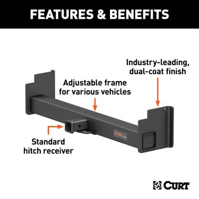 CURT - CURT 15901 Universal Weld-On Receiver - Image 2