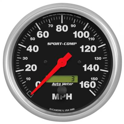 AutoMeter - AutoMeter 3989 Sport-Comp Electric Programmable Speedometer - Image 1